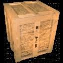 Cassa in legno osb - Frontale