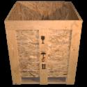 Cassa in legno osb - Frontale coperchio aperto