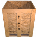 Wooden Osb Box - Front cover open