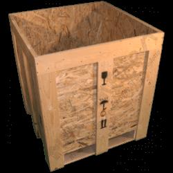 Cassa in legno osb - Laterale coperchio aperto