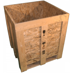 Wooden Osb Box - Side cover open