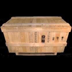 Caixa de madeira com viga