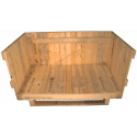 Heavy Duty Wooden box - Front side and open the lid