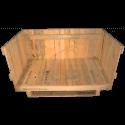 Cassa travata - Frontale lato e coperchio aperti