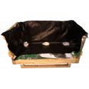 Heavy Duty Wooden box - The front cover and open barrier bag