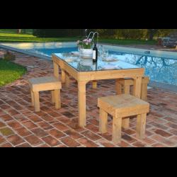 Palette table - piscine 1
