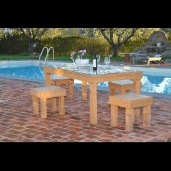Palet mesa - piscina 2