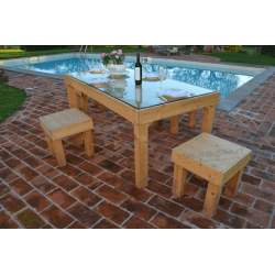 Palet mesa - piscina 3