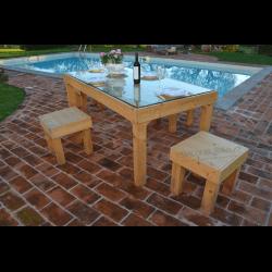 Palete para mesa - piscina 3