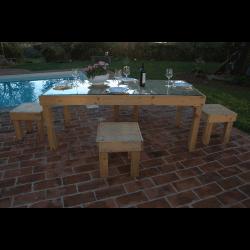 Palet mesa - piscina 4