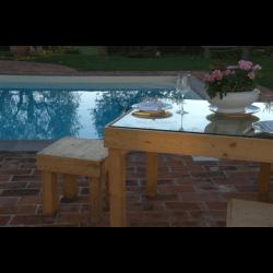 Palete para mesa - piscina 5