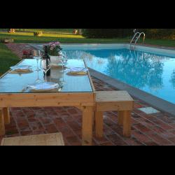 Palete para mesa - piscina 7