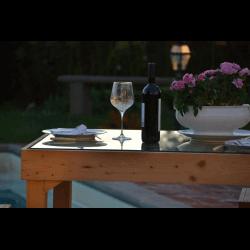 Palete para mesa - piscina 8