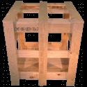 Gabbia in legno - Frontale alto