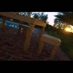 Palete para mesa - piscina 10