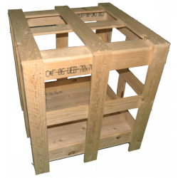 Gabbia in legno - Laterale