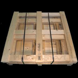 Gabbia in legno - Frontale alto smontata da trasporto