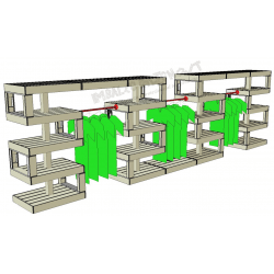Modular Pallet Panchina Alternato W-MP-ALTERNATO