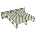 Modular Pallet Panchina Letto W-MP-LETTO