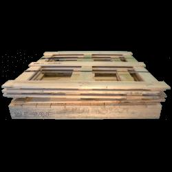 Gabbia in legno - Frontale basso smontata da trasporto