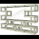 Modular Pallet Panchina Bancone aperto W-MP-BANCONEAPERTO