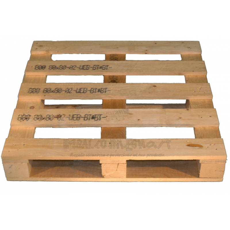 Four Way Block wooden pallet - Front