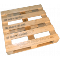 Four Way Block wooden pallet - top front