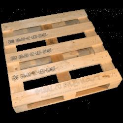 Palete de madeira de quatro entradas - Frente alta