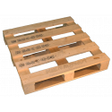 Four Way Block wooden pallet - Side