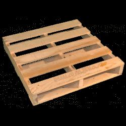 Lateral - Palete de madeira de duas entradas