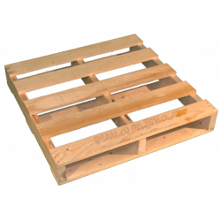 Latéral - Palette en bois à deux entrées