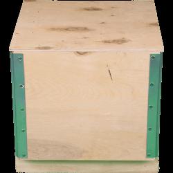Caixa de madeira compensada desdobrável - Frente