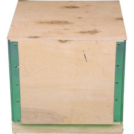 Caja de madera madera contrachapada plegable - Frente