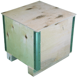 Wooden Plywood Foldable box - left side