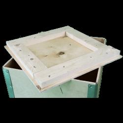 Cassa in legno compensato pieghevole - dettaglio coperchio