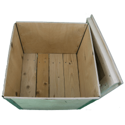 Wooden Plywood Foldable box - inside the case