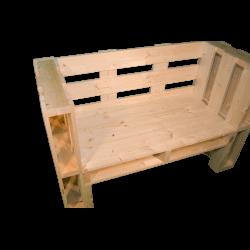 Pallet panchina - Laterale sinistro con bracciolo