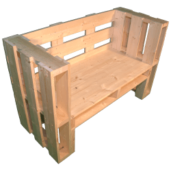 Pallet panchina - Laterale sinistro con braccioli alti