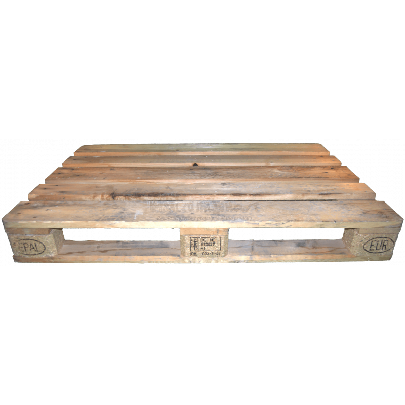 Used EPAL Euro Pallet 120x80 - Front low
