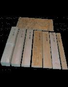 As placas de madeira e folhas osb3.