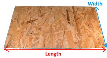 OSB3 sheets - tickness 6mm measures