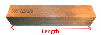 Wooden Beam 115x115mm measures