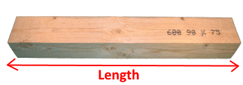 Wooden Beam 75x90mm measures