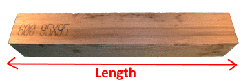 Wooden Beam 95x95mm measures
