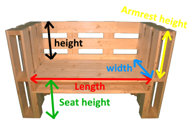 Pallet Bench measures