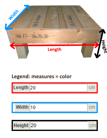 Pallet Table measures
