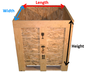 Wooden Osb Box measures