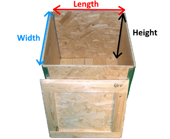 Wooden Osb Foldable box measures