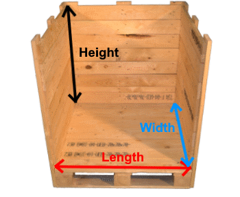Wooden box measures