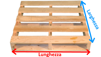 Pallet in legno a 2 vie - Imballoinlegno.it